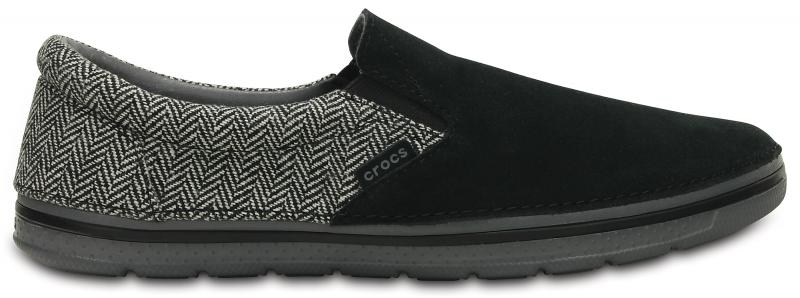 Crocs Men's Norlin Herringbone Slip-on - Black, M9/W11 (42-43)