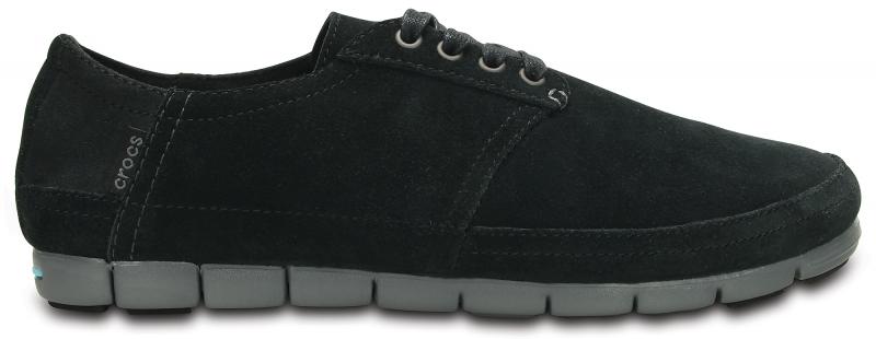Crocs Men's Stretch Sole Desert Shoe Black/Charcoal, M11 (45-46)