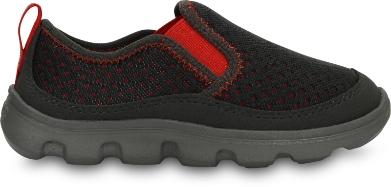 Crocs Duet Sport Slip-on Kids - Graphite/Flame, C12 (29-30)