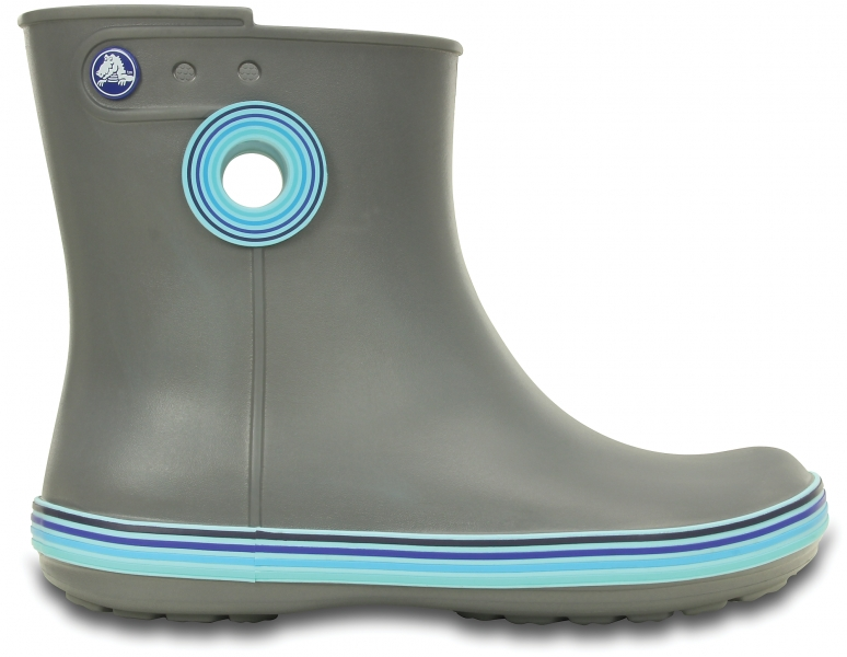 Crocs Women's Jaunt Stripes Shorty Boot - Smoke/Cerulean Blue, W7 (37-38)