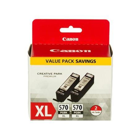 Pigmentové černé inkoustová kazety Canon PGI-570XL PGBK (PGI 570 XL, PGI570XL) Twinpack - Originální 0318C007