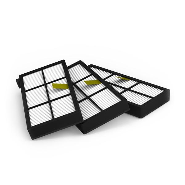 HEPA filtry pro iRobot Roomba série 800 - 3 kusy
