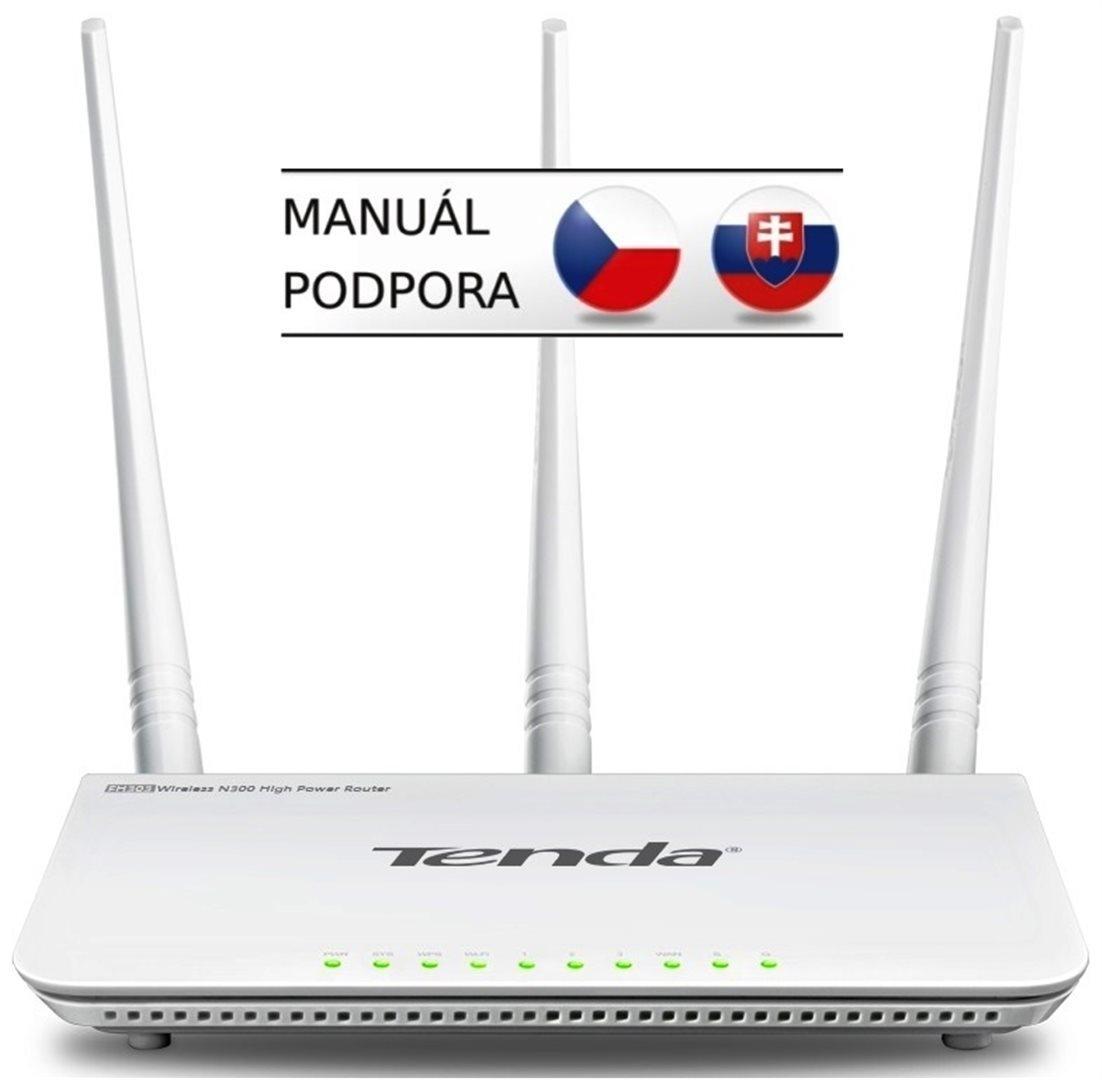 Tenda F3 (F303) Wireless-N Router 802.11 b/g/n, 300 Mbps, WISP, Universal Repeater, 3x 5 dBi antény F3