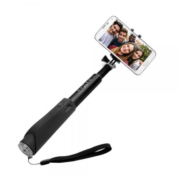 Teleskopická selfie tyč FIXED s Bluetooth spouští, - černá FIXSS-BT-BK