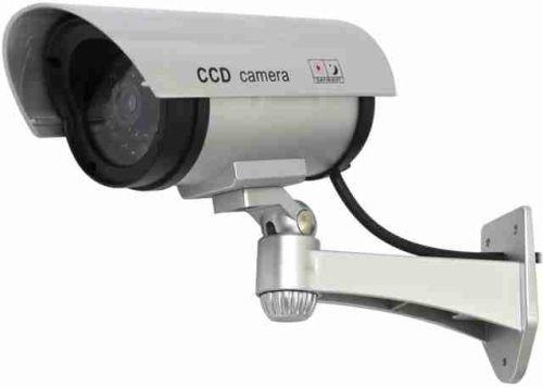 Atrapa venkovní kamery IR CCD, stříbrná