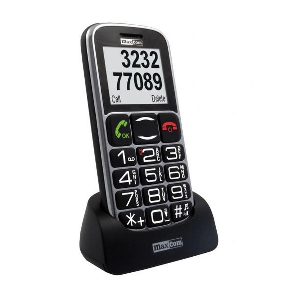 Mobilní telefon pro seniory MAXCOM MM462, černý MM462BB black