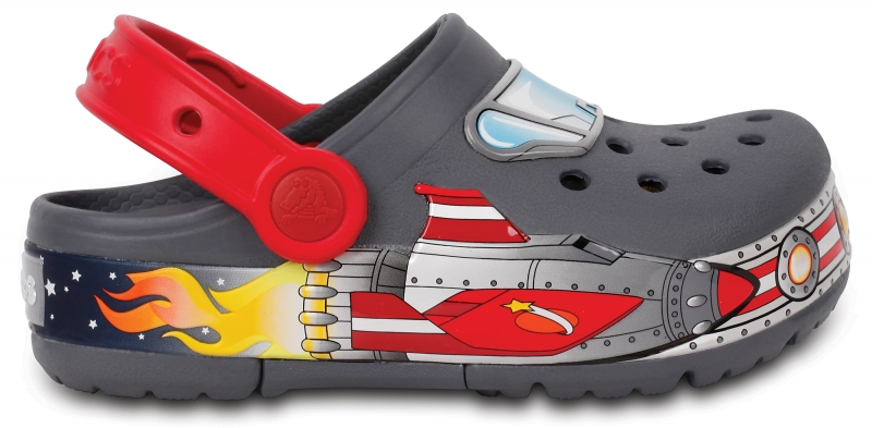 Crocs Lights Galactic Clog Boy - Charcoal, C11 (28-29)