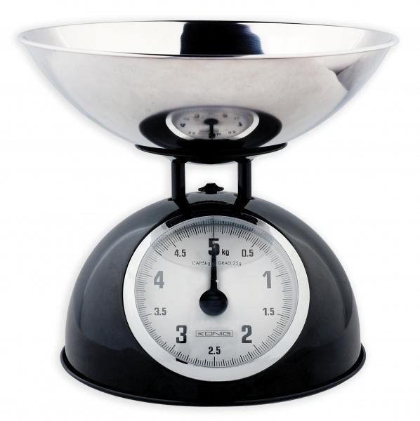 Kuchyňská váha König - Černá