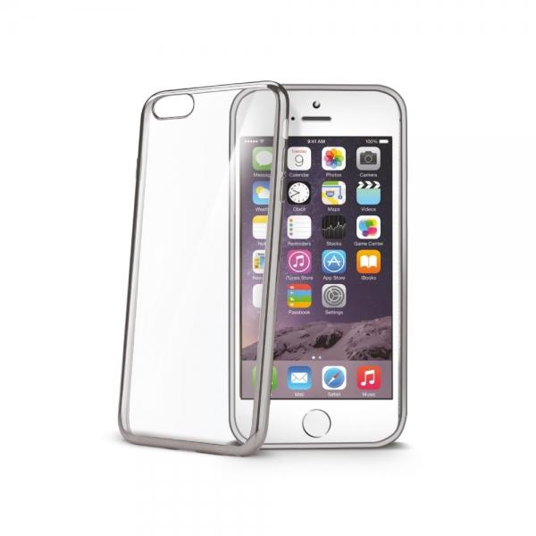 Zadní kryt Celly Laser pro Apple iPhone 6/6S - Stříbrný BCLIP6SSV