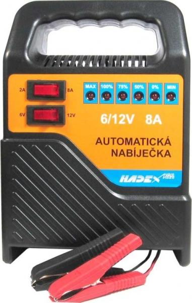 Autonabíječka olověných akumulátorů HB1208S, 6-12V/8A