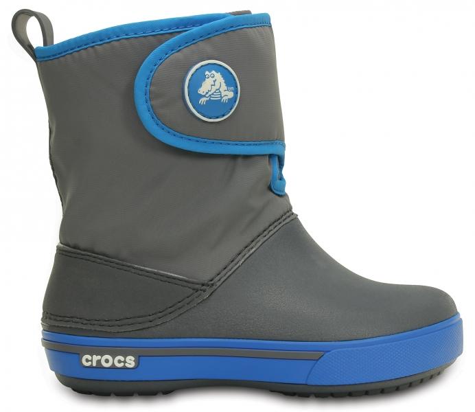 Crocs Crocband II.5 Gust Boot Kids Charcoal/Ocean, C10 (27-28)