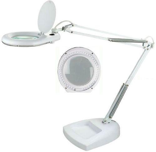Stolní lupa ZD-129LED s LED osvětlením, 7W, 5 dioptrií, bílá