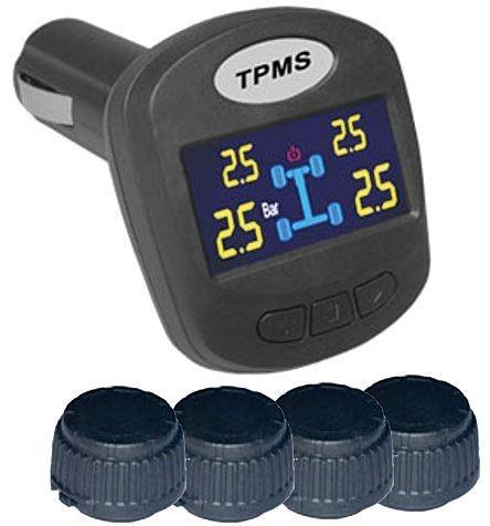 Bezdrátový monitor tlaku a teploty pneumatik TPMS-403DIY