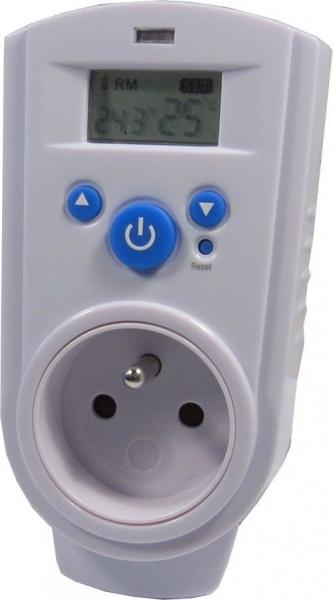 Zásuvkový termostat TH-928T, digitální
