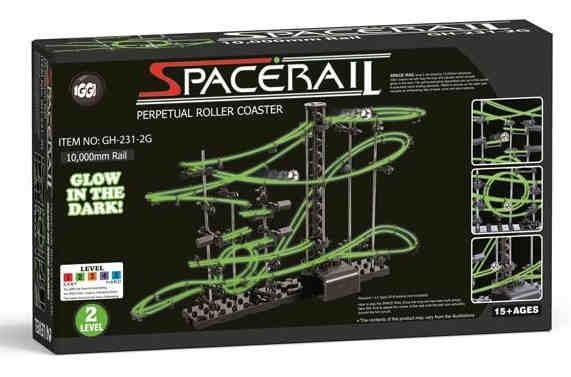 SpaceRail Level 2 - svítící kuličková dráha