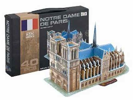 3D Puzzle skládačka Notre Dame 40 dílků