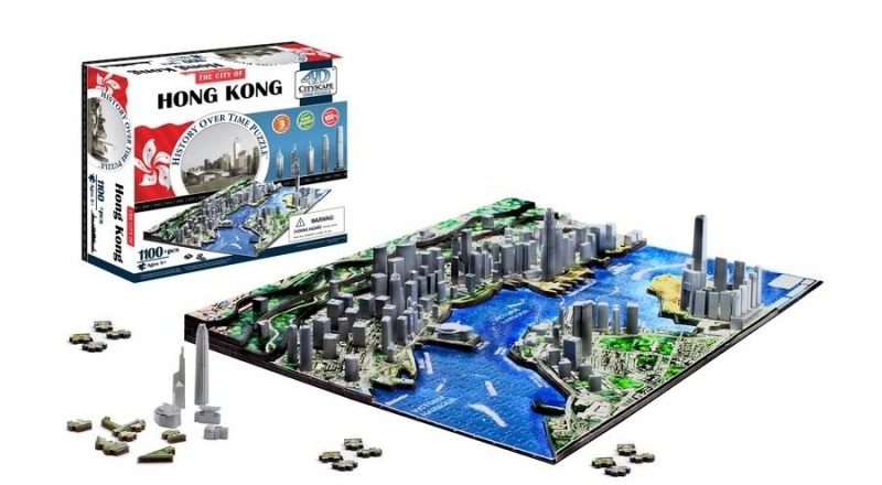 4D City Puzzle - Hong Kong