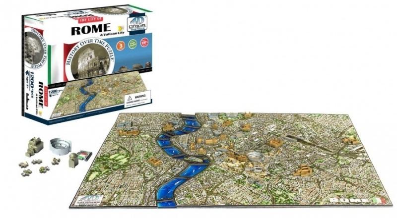 4D City Puzzle - Řím & Vatikán