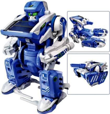 Solární stavebnice Solar Transformers - hračka SolarBot SolarKit 3v1 robot, škorpión, tank