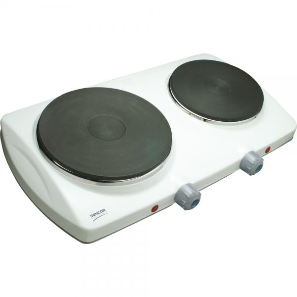 Elektrický dvouplotýnkový vařič Sencor SCP 2250WH