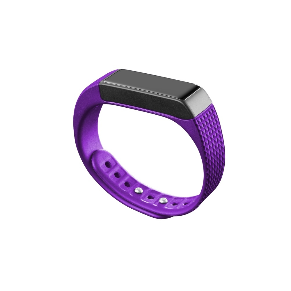 Bluetooth fitness náramek s dotykovým displejem CellularLine EASYFIT TOUCH, fialovo-černý - Fialový BTEASYFITTOUCHP