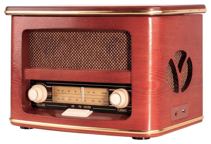 Retro rádio ORAVA RR-51 s CD přehrávačem a USB vstupem 8586006927739