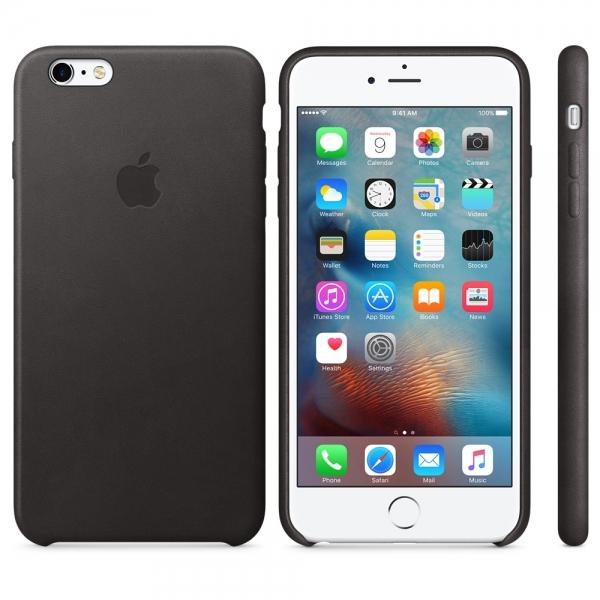 Kožený zadní kryt Apple Leather Case pro iPhone 6/6S Plus - Černá MKXF2ZM/A