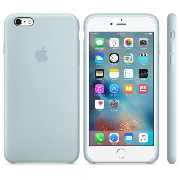Zadní kryt Apple Silicone Case pro iPhone 6 Plus/6S Plus - Tyrkysová MLD12ZM/A