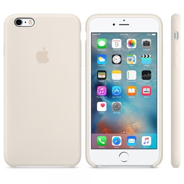Zadní kryt Apple Silicone Case pro iPhone 6 Plus/6S Plus - Starobílá MLD22ZM/A
