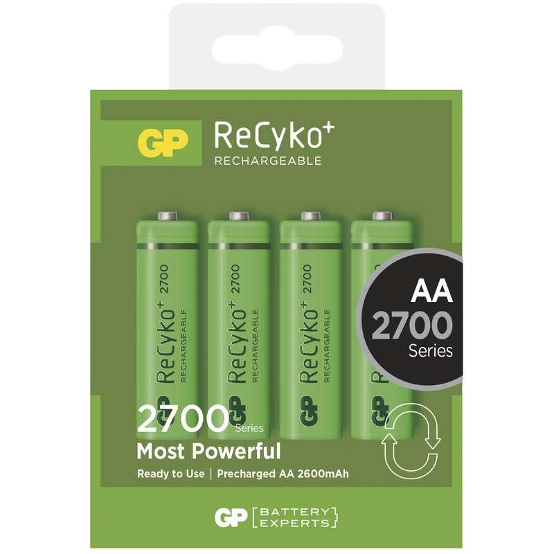 Nabíjecí baterie GP AA 2700 mAh, 4 ks 1032214130