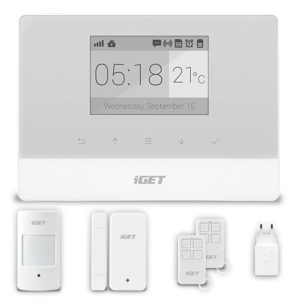 iGET SECURITY M3 - Domovní GSM Alarm, set M3