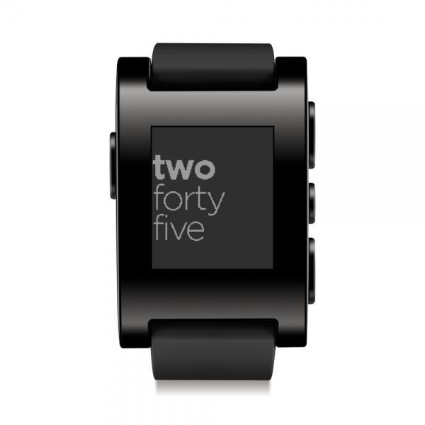 Chytré hodinky Pebble Classic Smartwatch, černé 301BL