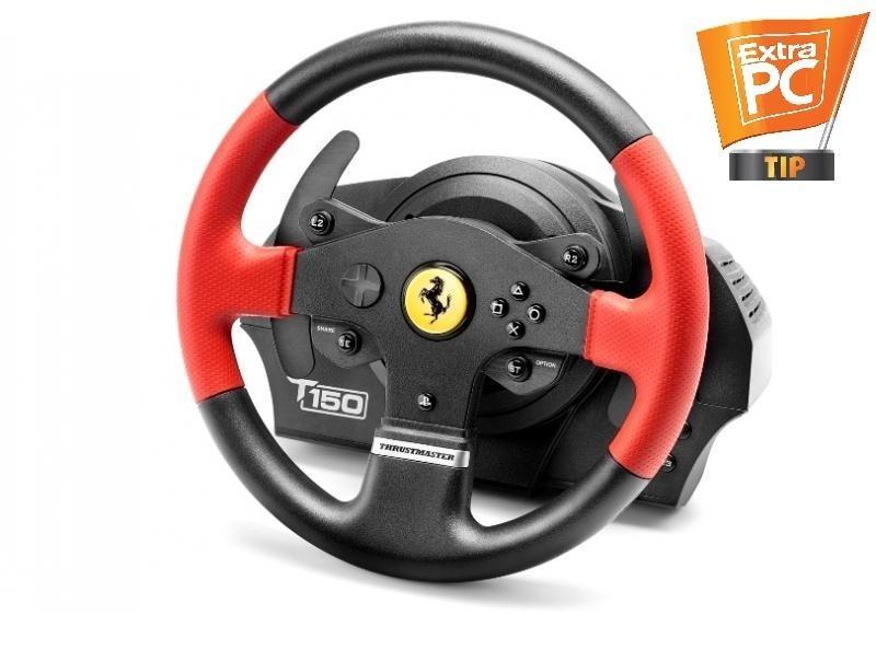 Thrustmaster Sada volantu a pedálů T150 Ferrari pro PS4, PS4 PRO, PS3 a PC (4160630) 4160630