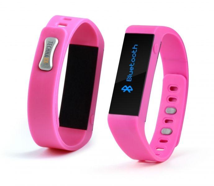 Fitness náramek Technaxx CLASSIC, OLED, Bluetooth 4.0, Android/iOS, růžový (TX-37) - Růžový 4445
