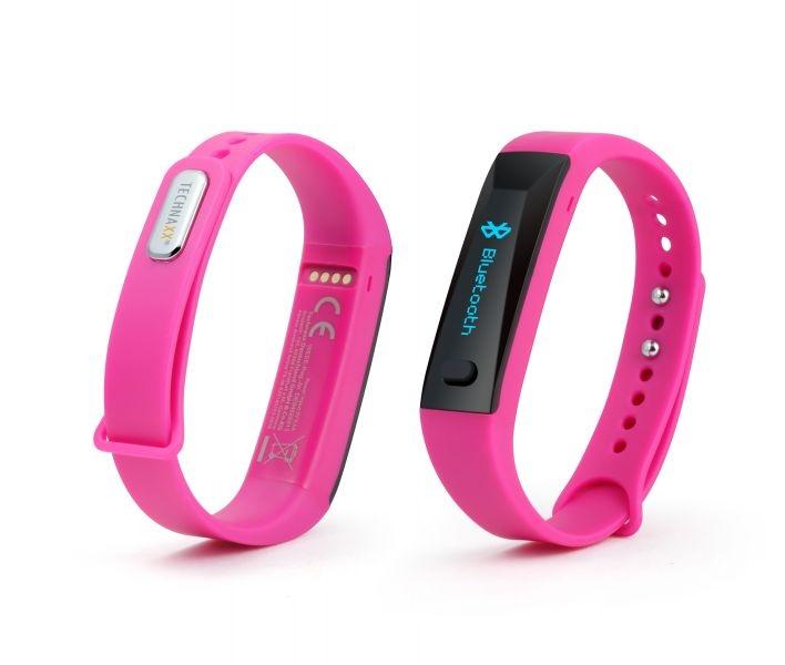 Fitness náramek Technaxx ACTIVE, OLED, Bluetooth 4.0, Android/iOS, růžový (TX-38) - Růžový 4447
