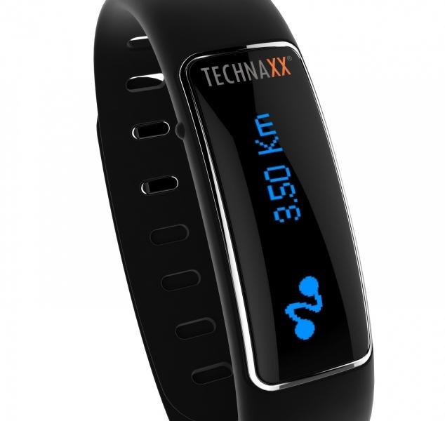 Fitness náramek Technaxx ELEGANCE, OLED, Bluetooth 4.0, Android/iOS, černý (TX-39) 4448
