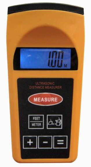 Ultrazvukový měřič vzdálenosti (dálkoměr až 18m!) s laserovým ukazovátkem Hutermann HM3007