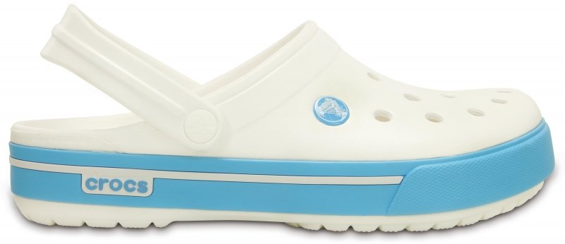 Crocs Crocband II.5 White/Electric Blue, M6/W8 (38-39)