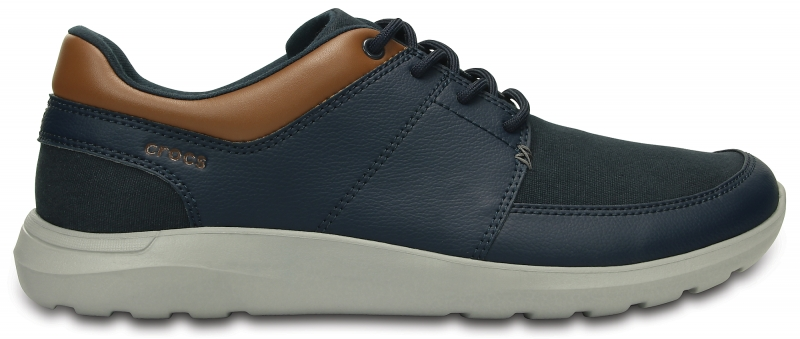 Crocs Men's Kinsale Lace-up - Navy/Light Grey, Navy/Light Grey, M9/W11 (42-43), M9/W11 (42-43)