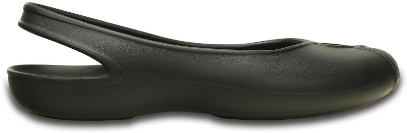 Crocs Olivia II Flat - Black, W6 (36-37)
