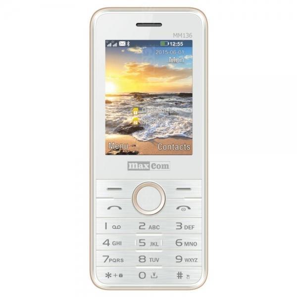 Mobilní telefon Maxcom MM136, DualSIM, - bílo-zlatý MM136 white-gold