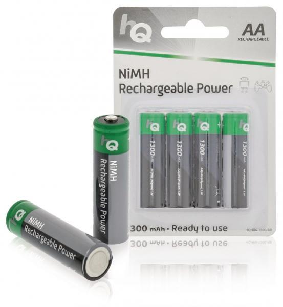 Nabíjecí baterie HQ AA, 1300 mAh, blistr 4 ks