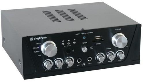 Karaoke zesilovač Skytronic 103.131, FM / USB / SD, černý