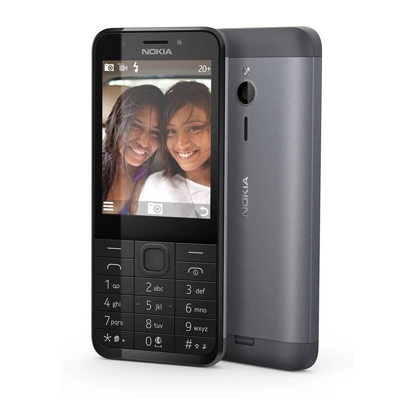Trhák Nokia 230 Dual SIM Dark Silver A00026952