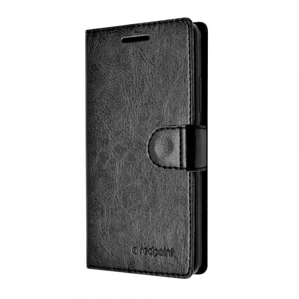 Pouzdro typu kniha Redpoint FIXED FIT pro Huawei P8 Lite, černé - černé FIXRP-FIT043-BK