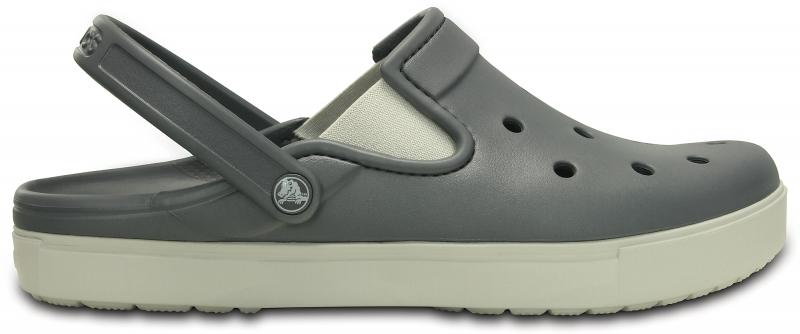 Crocs CitiLane Clog - Charcoal/Pearl White, M6/W8 (38-39)