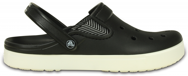 Crocs CitiLane Flash Clog - Black/White, M12 (46-47)