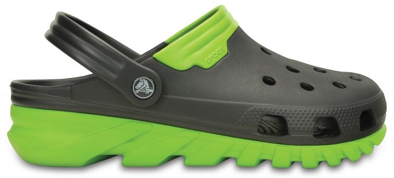 Crocs Duet Max Clog Graphite/Volt Green, M7/W9 (39-40)