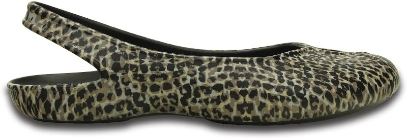 Crocs Olivia II Leopard Print Flat - Leopard, W7 (37-38)