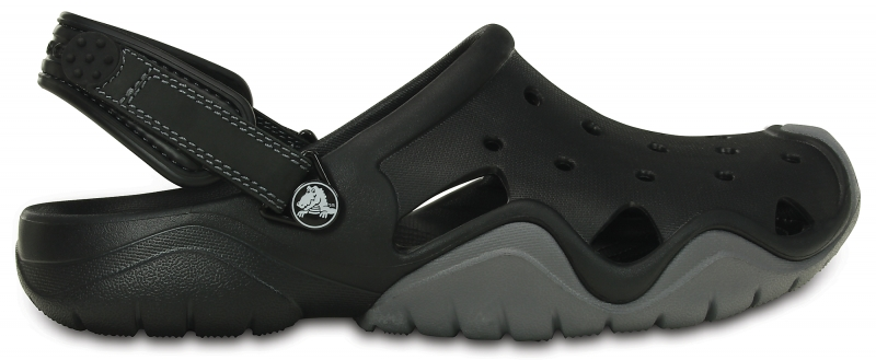Crocs Swiftwater Clog - Black/Charcoal, M12 (46-47)